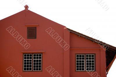Windows of a Colonial Dutch Building