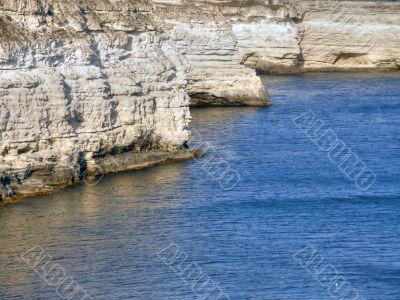 Beautiful sea coast. The western Crimea.