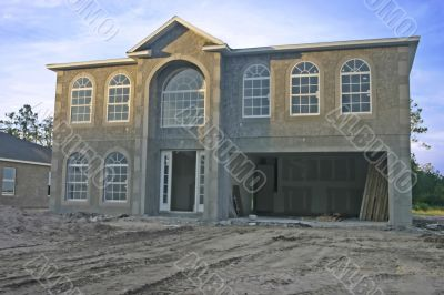 new two story home construction