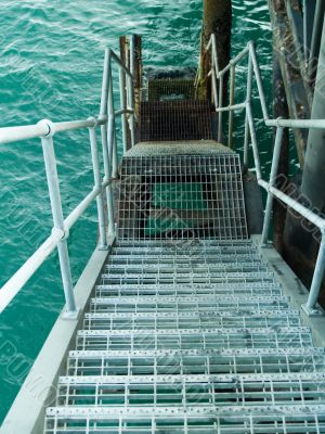 Stairway into the sea