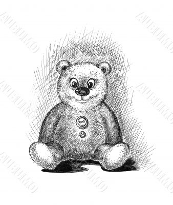 Cute teddy bear sketch