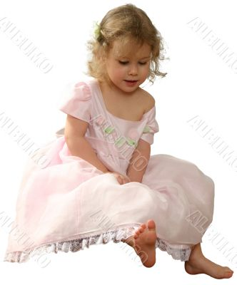 rose-colour gown