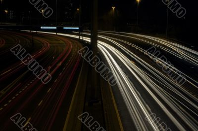 Traffic trails at night
