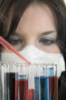 Technician working in a lab