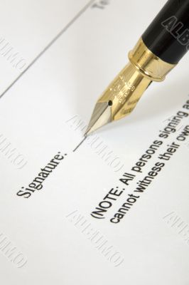 A signature on a document