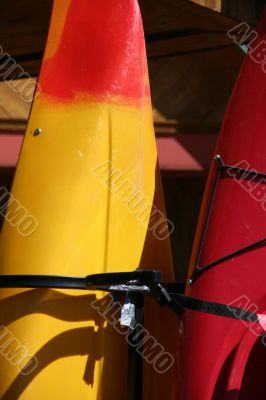 Kayaks ready for use