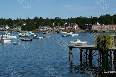 Lobster traps on wharfs