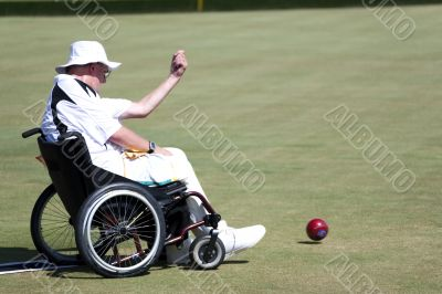 Wheel Chair Lawn Bowls for Disabled Persons