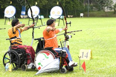 Wheel Chair Archery for Disabled Persons