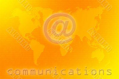Communications world map