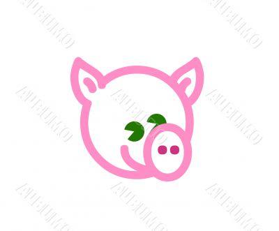 Pig illustration,vector,fun