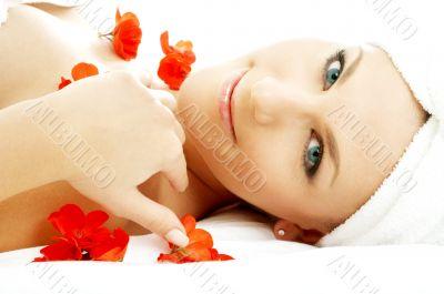 red flower petals spa #3