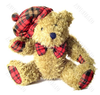 Fluffy toy of little brown bear