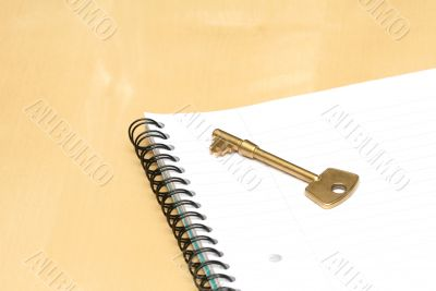 Key and notebook