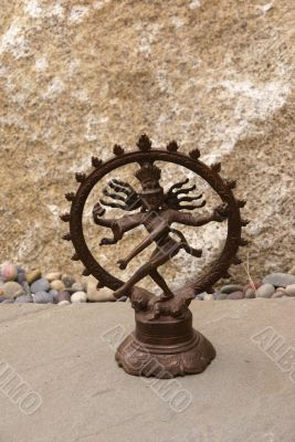 Bronze Shiva on granite.
