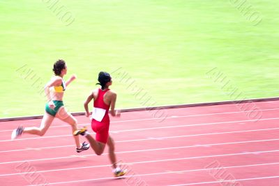 Women`s 100 Meters for Visually Impaired Persons