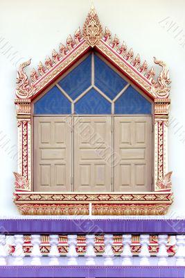 Thai Buddhist Temple Window