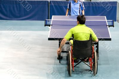 Wheel Chair Table Tennis for Disabled Persons