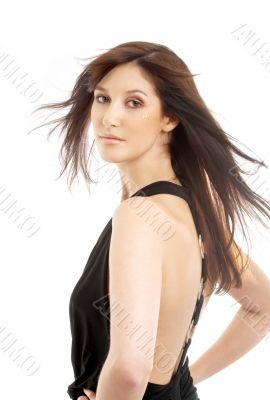 lovely brunette in motion