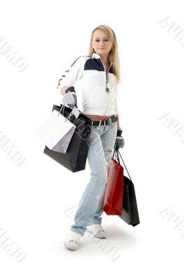 shopping teenage girl