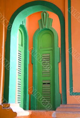 Windows of a Colonial Bungalow
