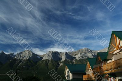 Kananaskis mountains; high cirrus clouds