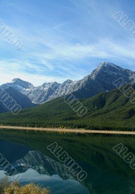 Spray Lakes reflection