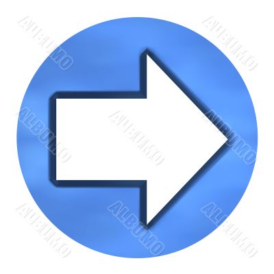 3D Azure Arrow Button