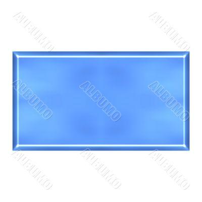 3D Azure Square Button