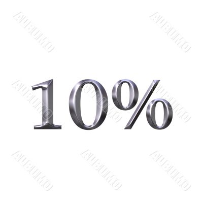 3D Silver 10 Percent