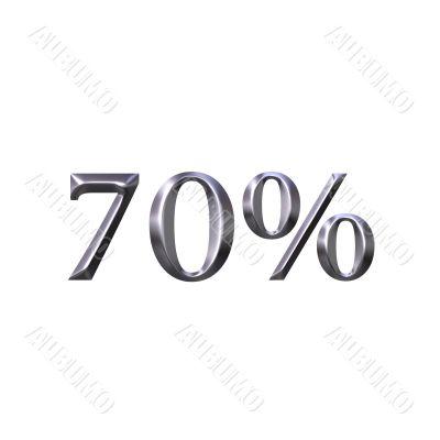 3D Silver 70 Percent