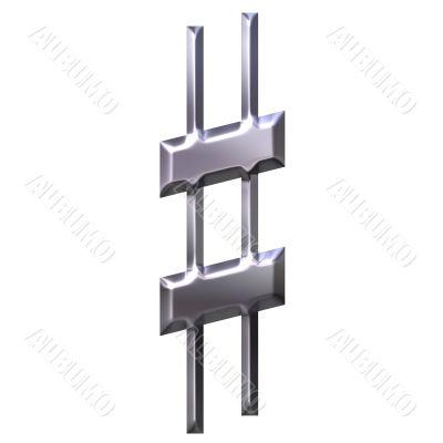3D Silver Sharp Symbol