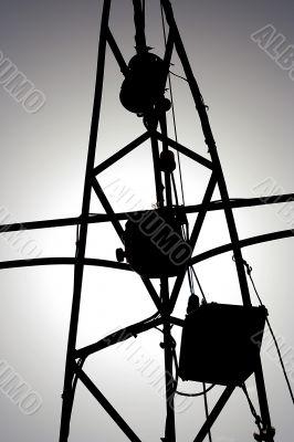 a pylon / mast silhouette