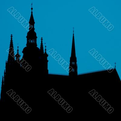 Silhouette of a church / cathedral