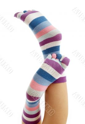 beautiful legs in funny socks #2