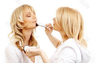 professional makeup artist at work