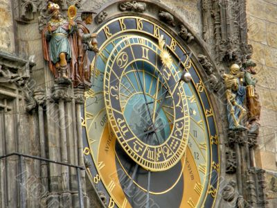 Ancient watches. Prague.