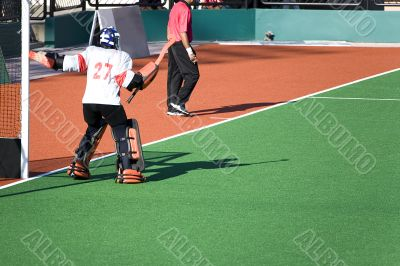Field Hockey Goal Keeper