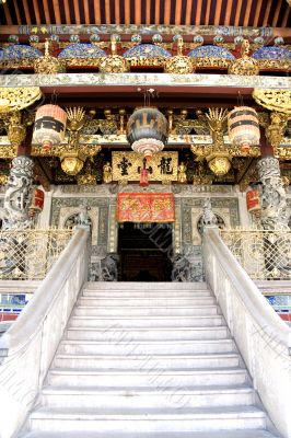 Decorative Chinese Clan House Entrance
