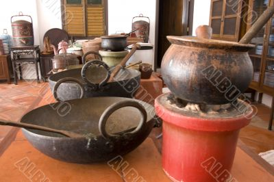 Vintage Chinese Pots and Pans