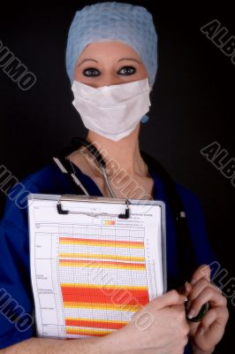 surgeon with notes