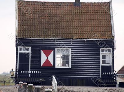traditional Dutch fishing house
