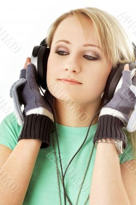 teenage girl in headphones #2