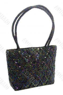 Beaded and Sequined Hand Bag