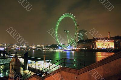 London Eye and River Thames at night