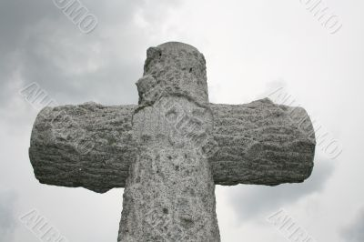 Stone carved cross