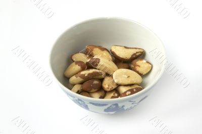 Brazil nuts, in a bowl