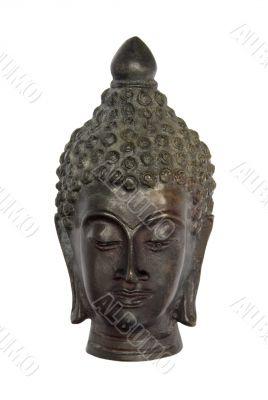 Antique Bronze Buddha Bust