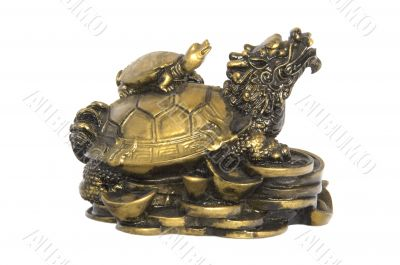 Chinese Brass Tortoise Lucky Charm