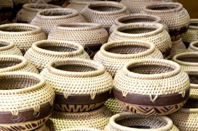 Traditional Straw Containers